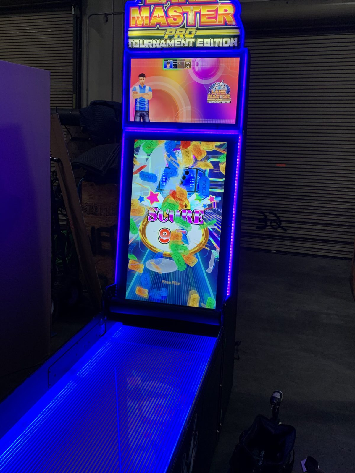 bowling arcade game rental