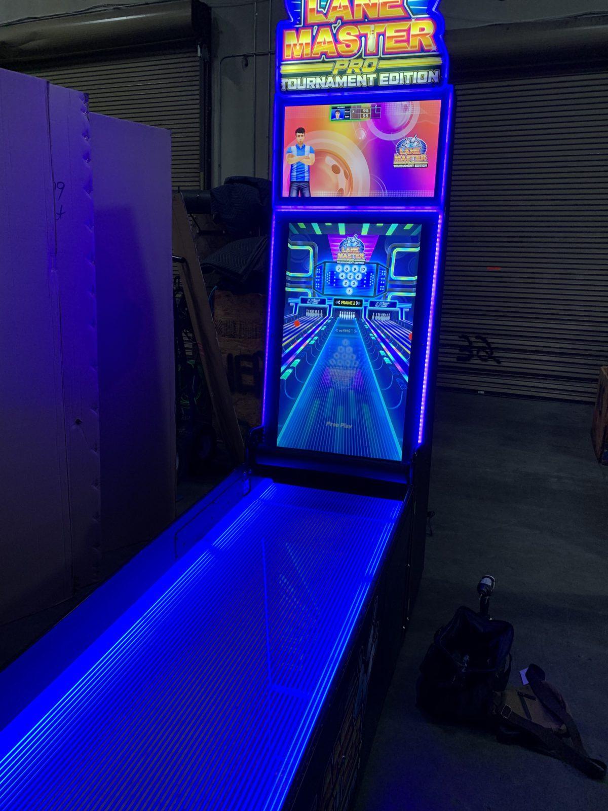 glow bowling arcade game