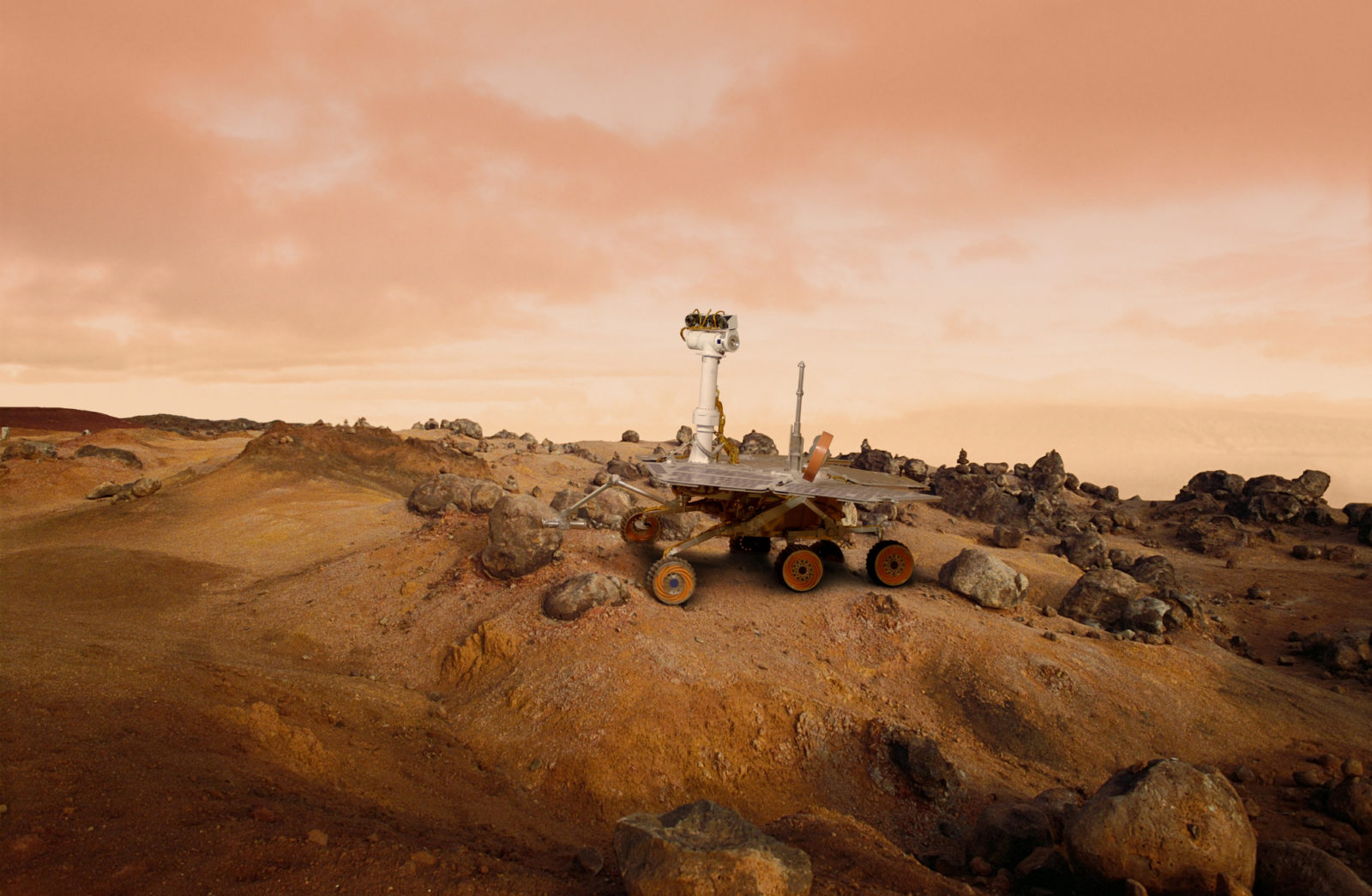 mars rover surface