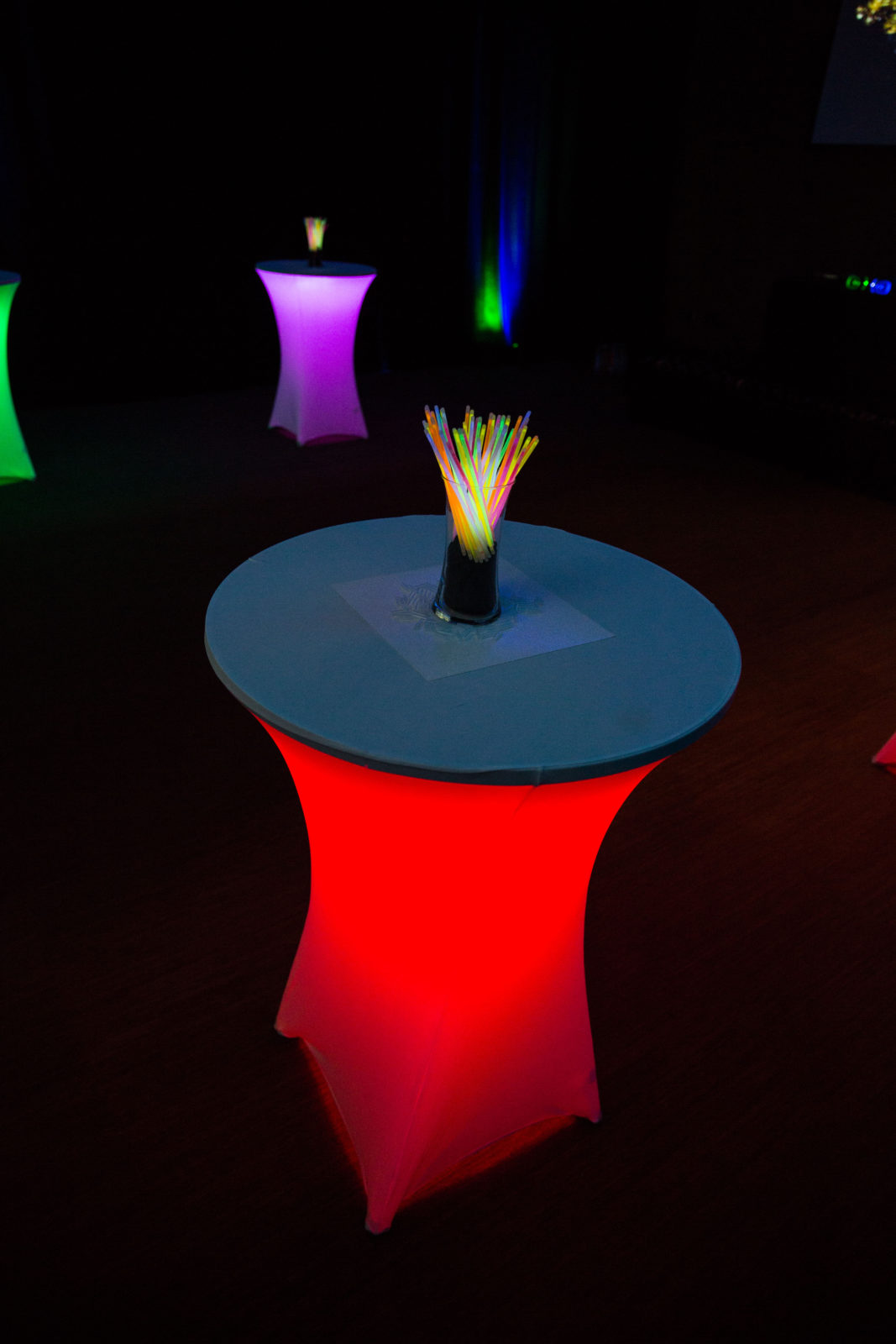 light up glow table rental