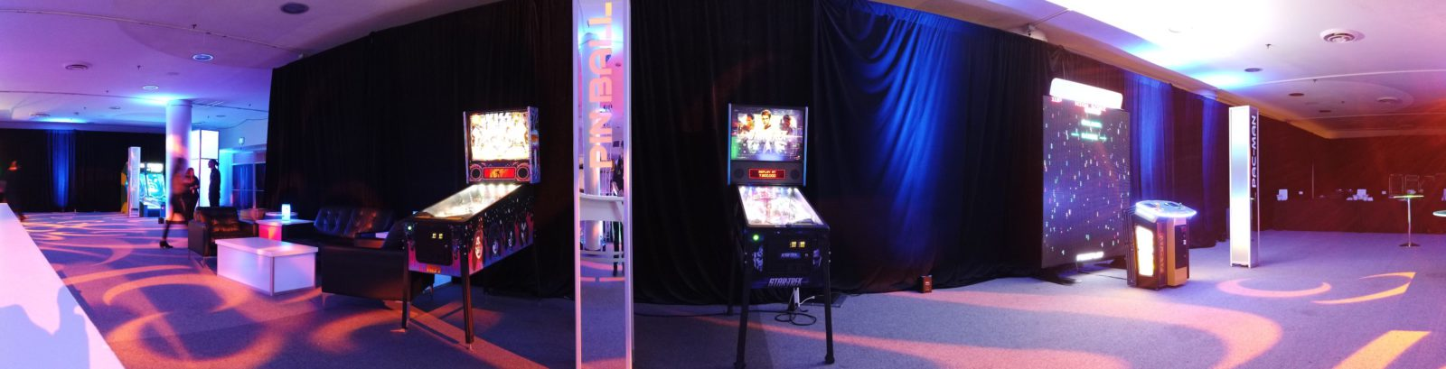 company party arcade room