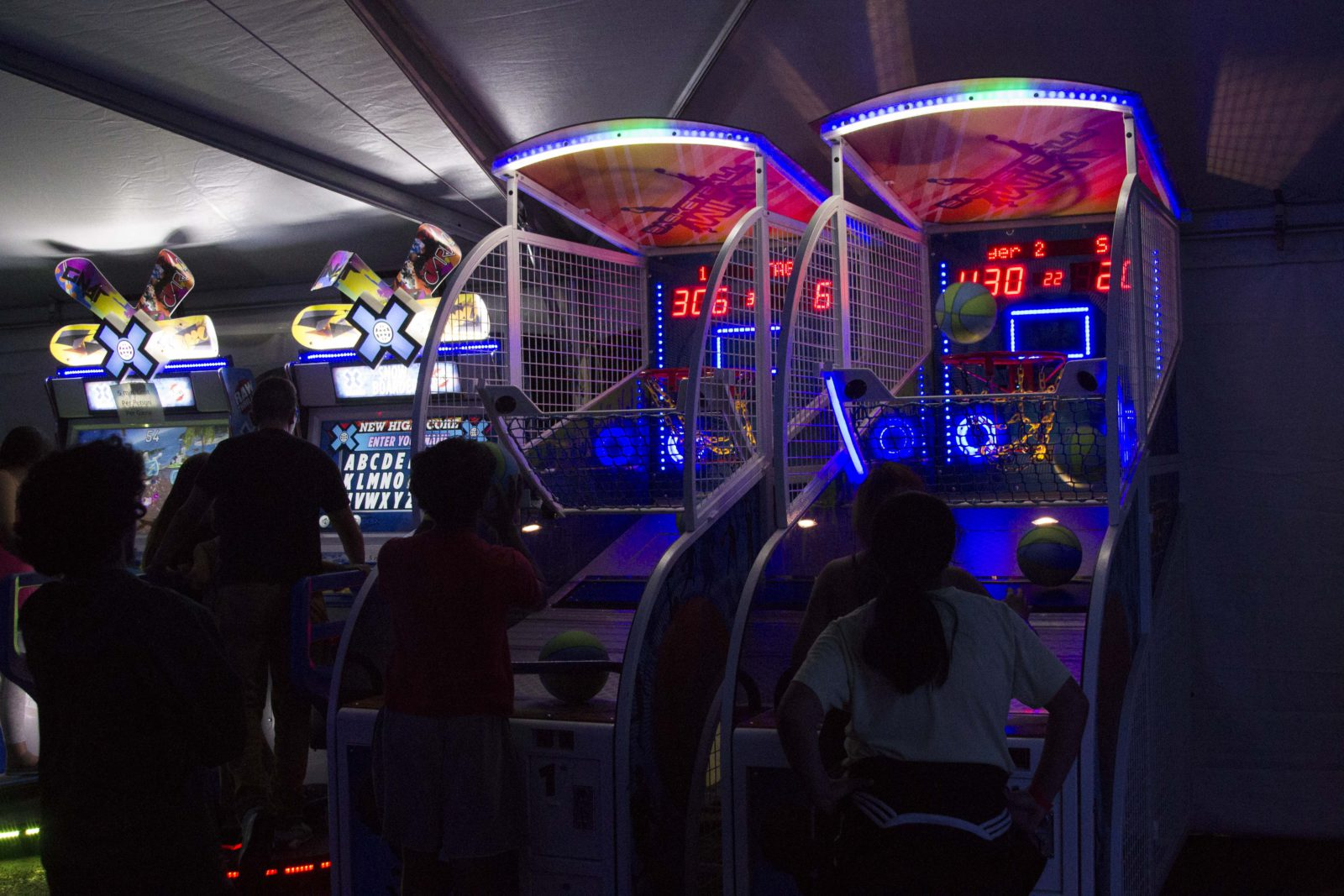 basketball arcade rental near you