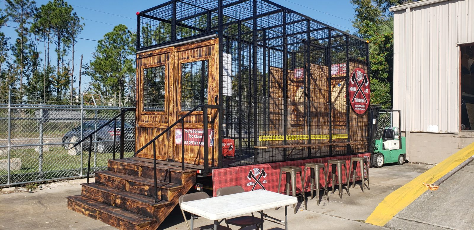 Axe Throwing Game Station