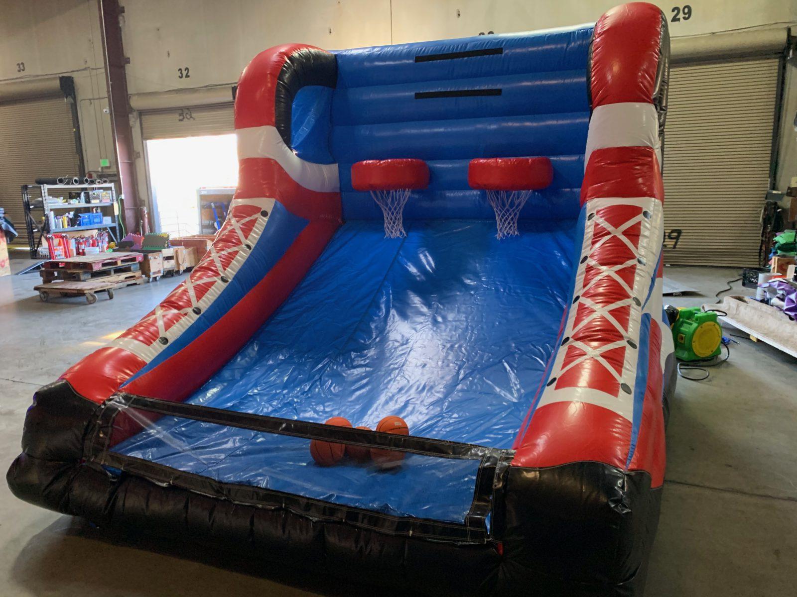 inflatable basketball hoop game rental